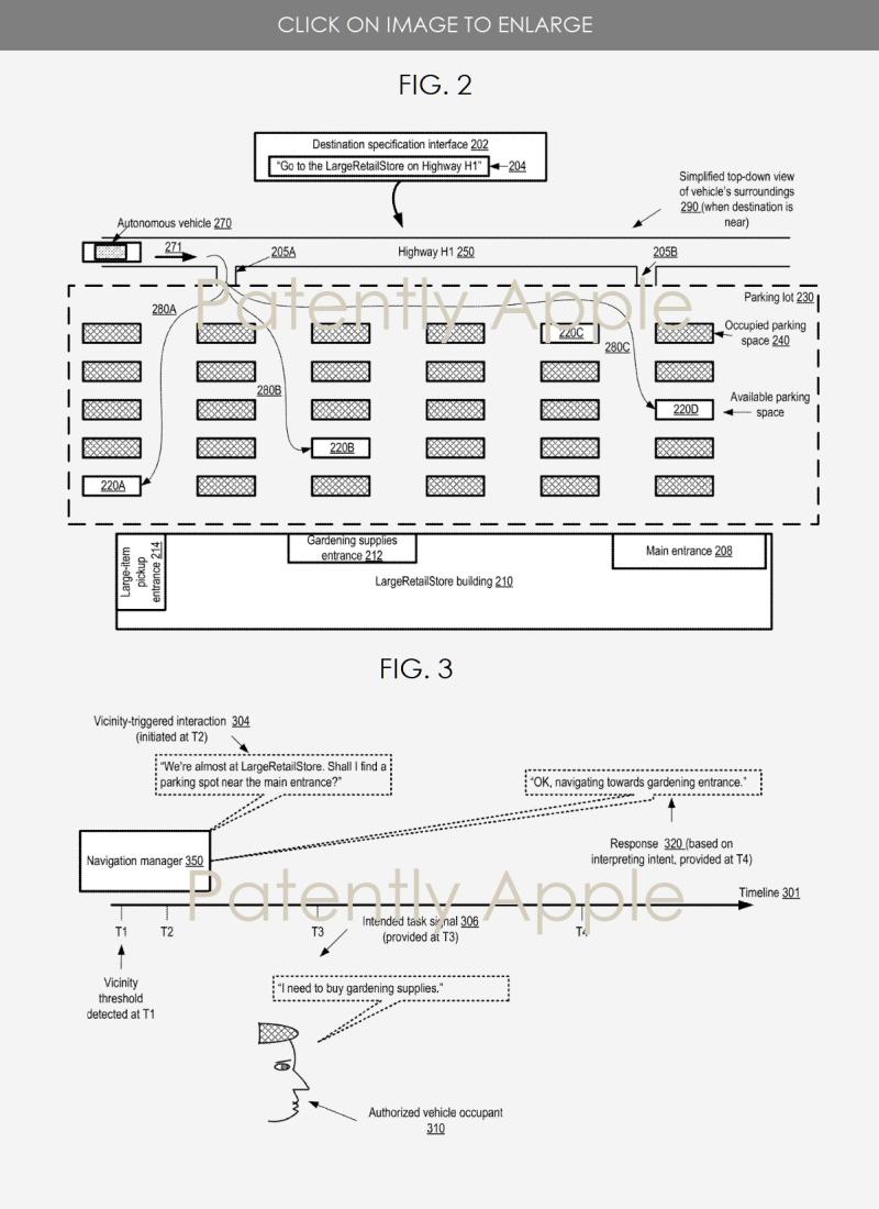 2 autonomous vehicle Apple patent figs 2 and 3