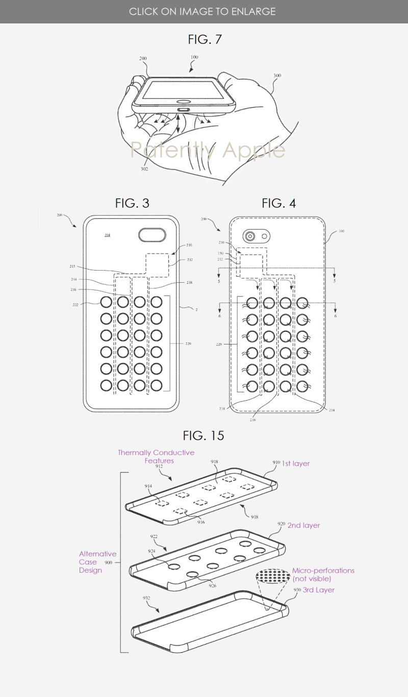 3 X iPhone case patent - figs 3  4  7 & 15