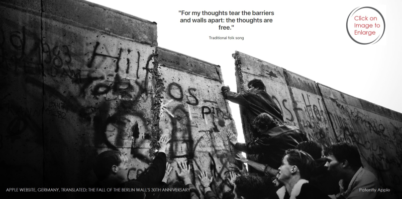 1 Cover - Apple's Germany's 30th anniversary of the fall of the Berlin Wall