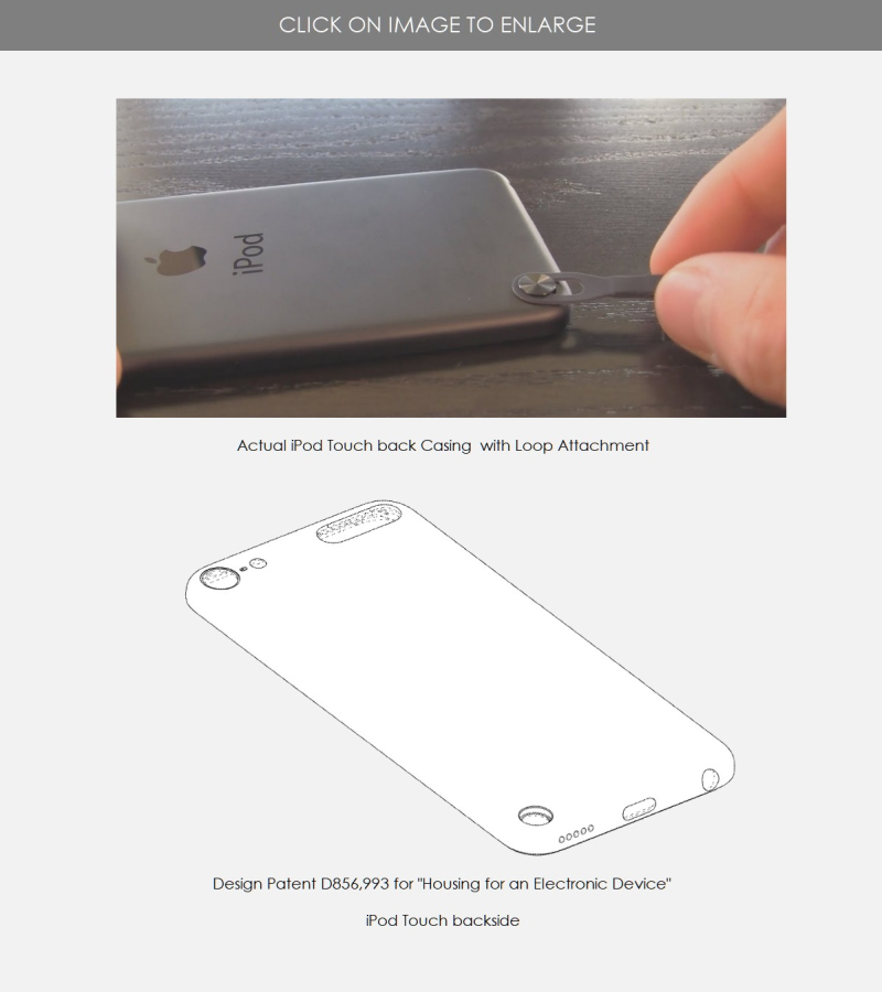 3 iPod touch design patent