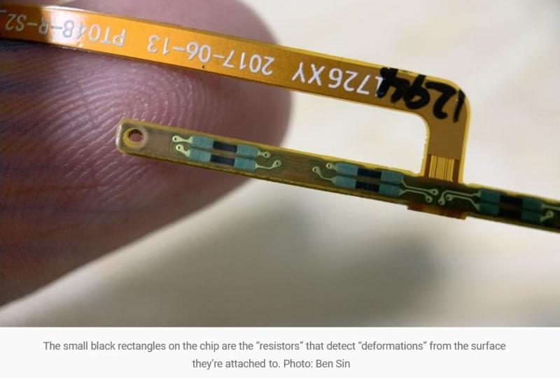 3 resistors detect deformations