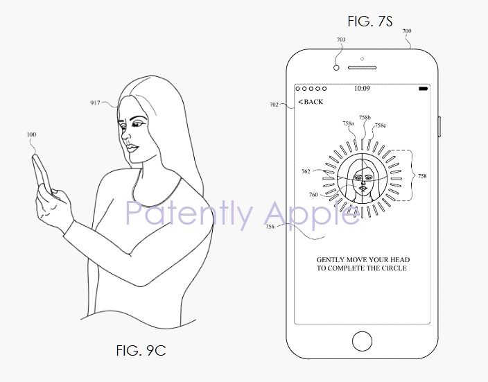 2 Apple wins patent for Face ID implementation  figs 7s  9c  Patently Apple IP report