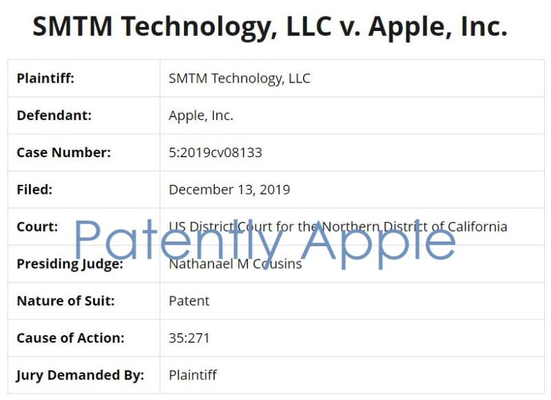 2 SMTM Technology v Apple Inc Dec 13  2019