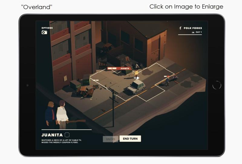 4  X Overland game image on ipad