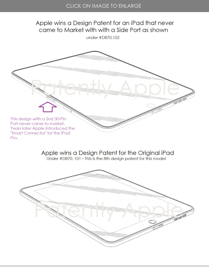 5  Apple wins two design patents for differing iPad designs