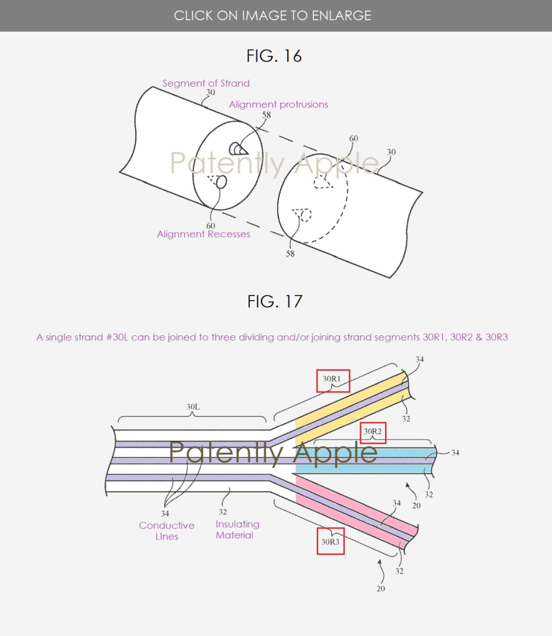 3 Smart Fabric Apple patent figs 16 & 17