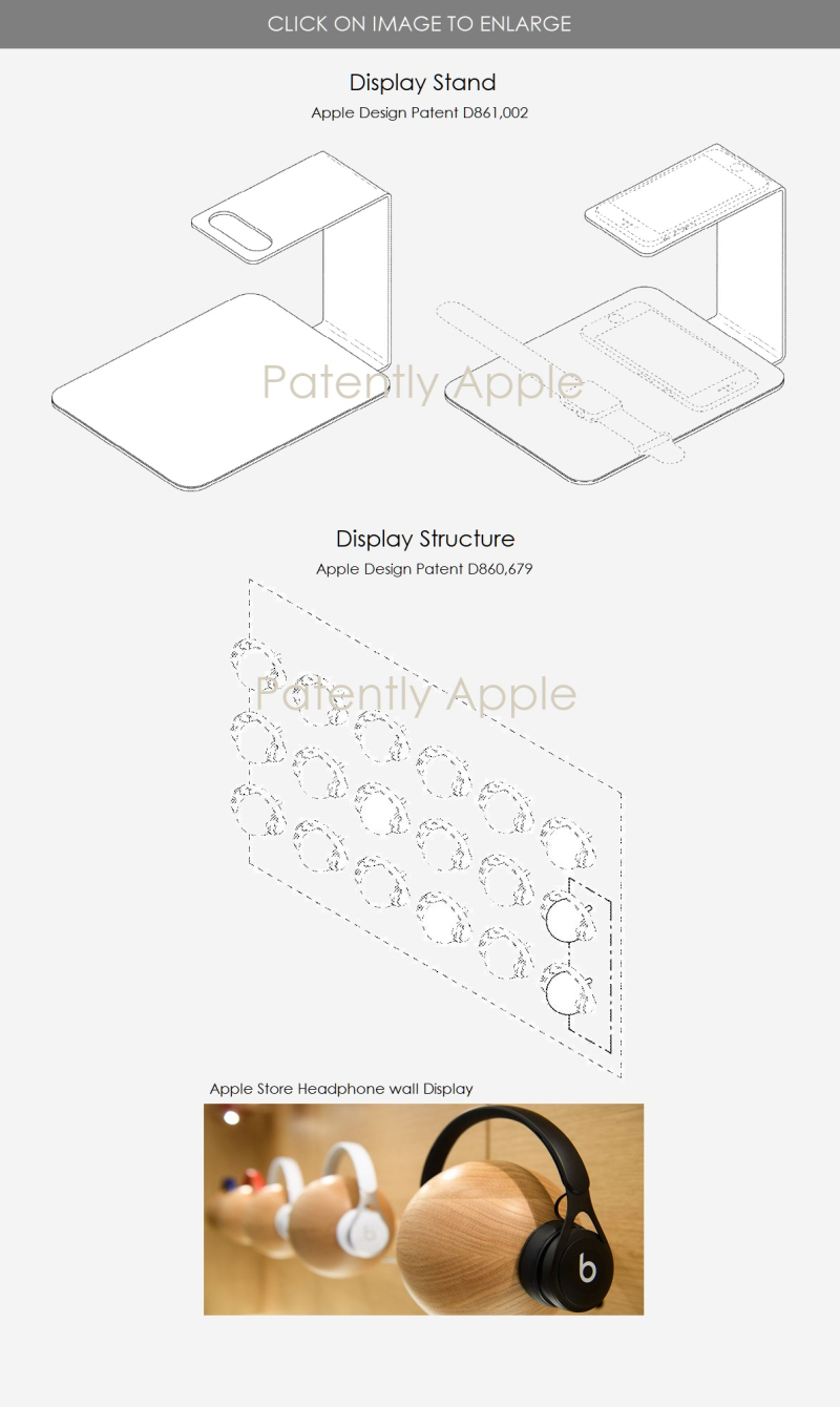 3 X Apple Design Patents for two kinds of  Displays