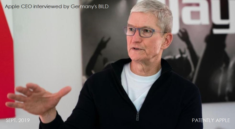 3 x Tim Cook interviewed by Germany's BILD SEPT 2019