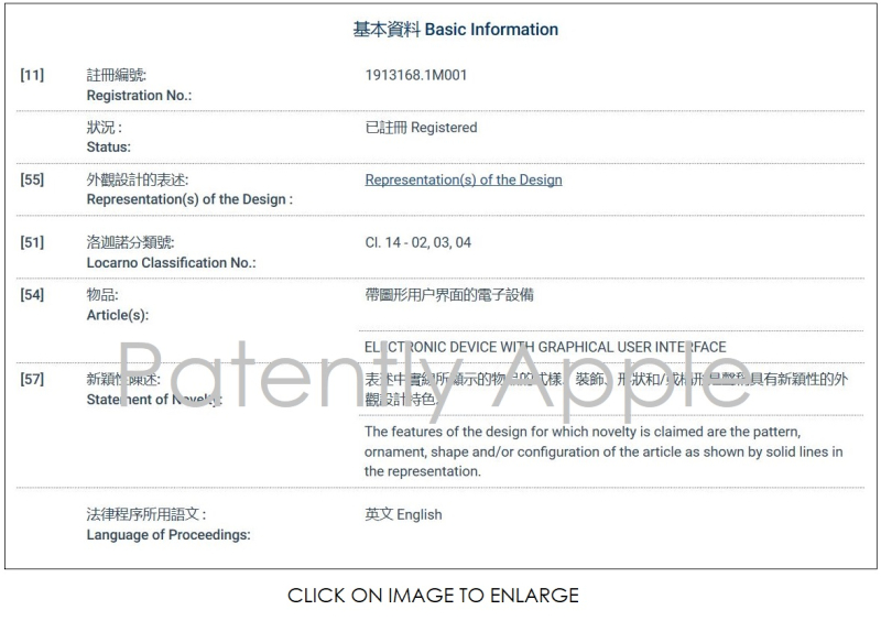 3 ONE EXAMPLE OF HONG KONG DESIGN PATENT INFORMATION