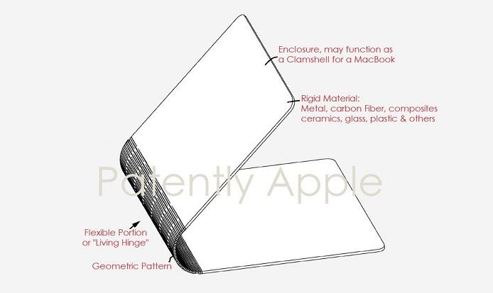 1 X cover patent apple flexible interlocking segments for notebook