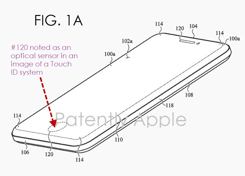 3 XFinal -  apple patent fig. 1a virtual touch ID