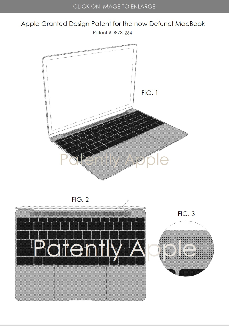 2 Design patent d873 263 macbook 2015 design now defunct