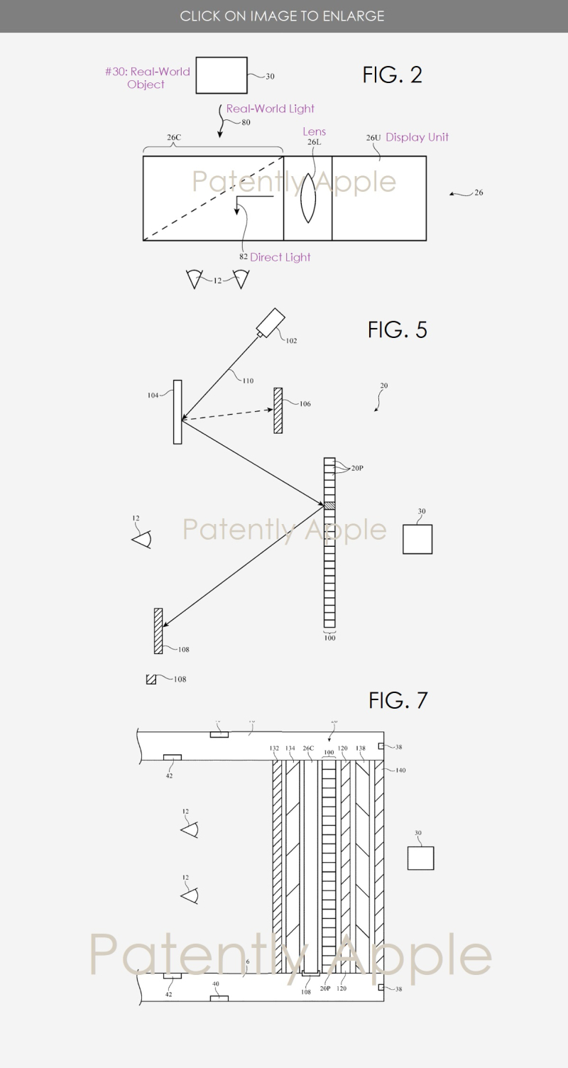 3 Apple HMD patent figs 2  5 & 7