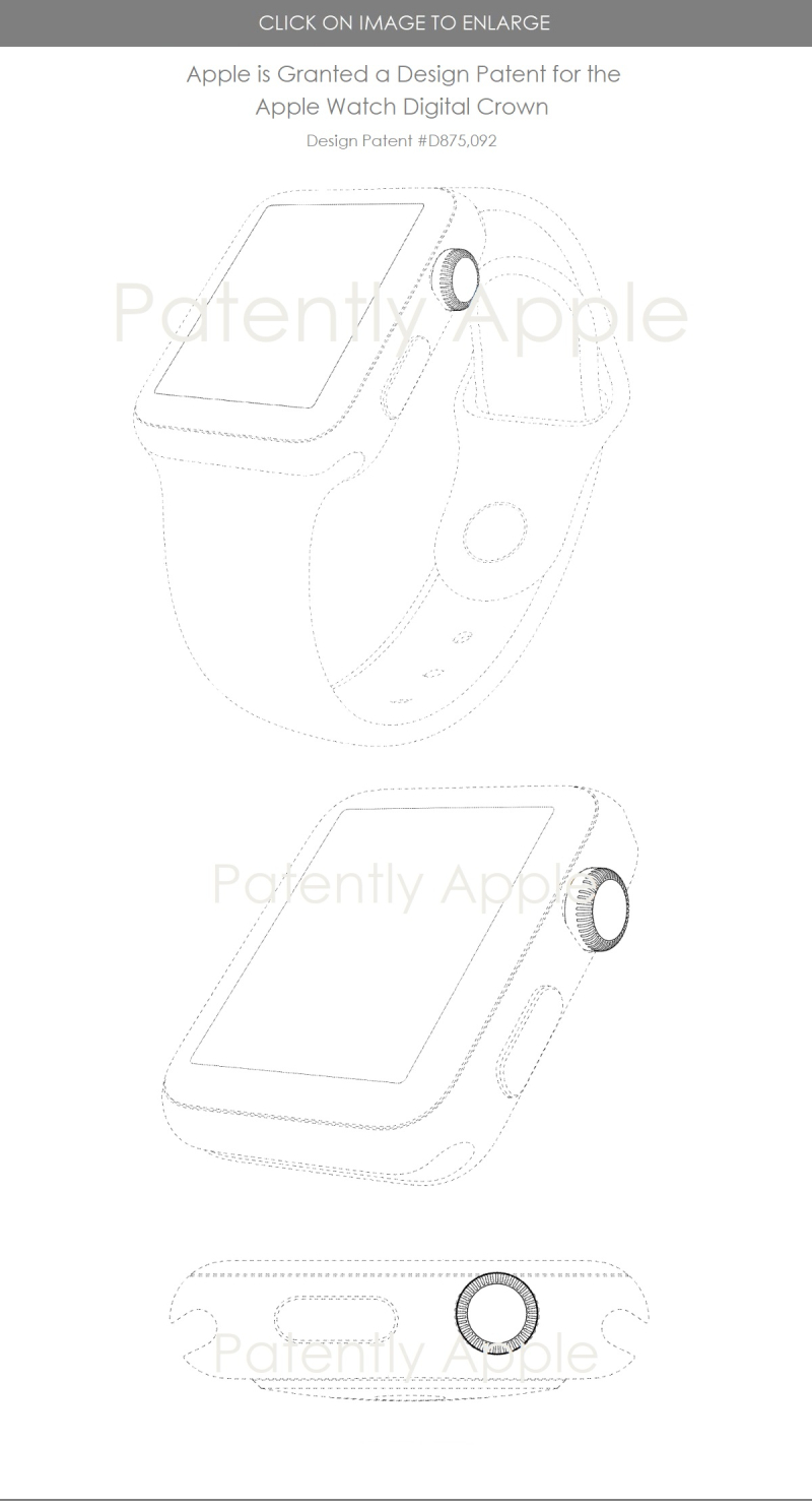 4 Apple wins deisgn patent for Apple Watch digital crown