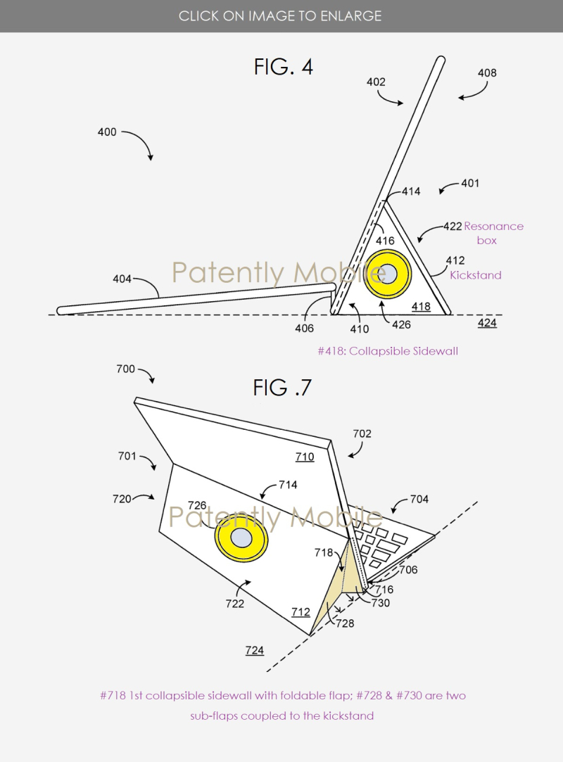 3 Microsoft patent speaker box for Surface Pro tablet