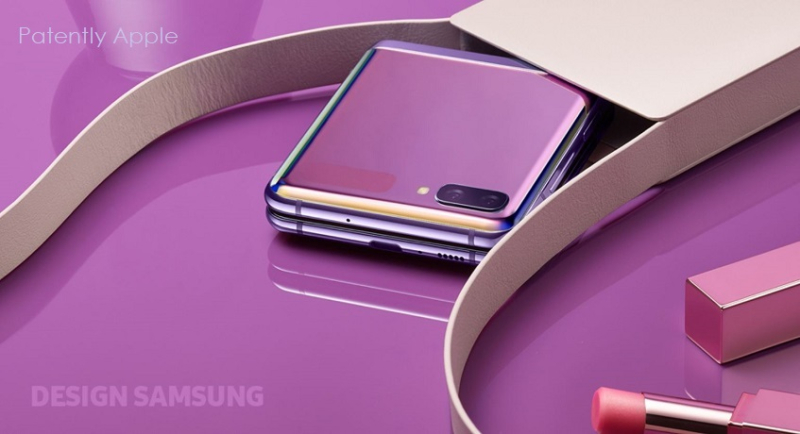 5 samsung marketing shows Flip Z phone seen as woman's accessory like a makeup case