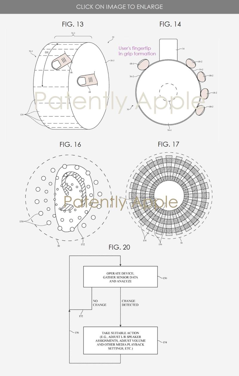 3 apple patent figs 13  14  16  17 & 20