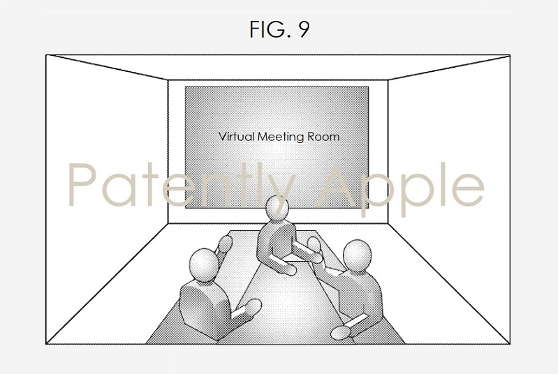 3 Virtual meeting with headset on  fig. 9