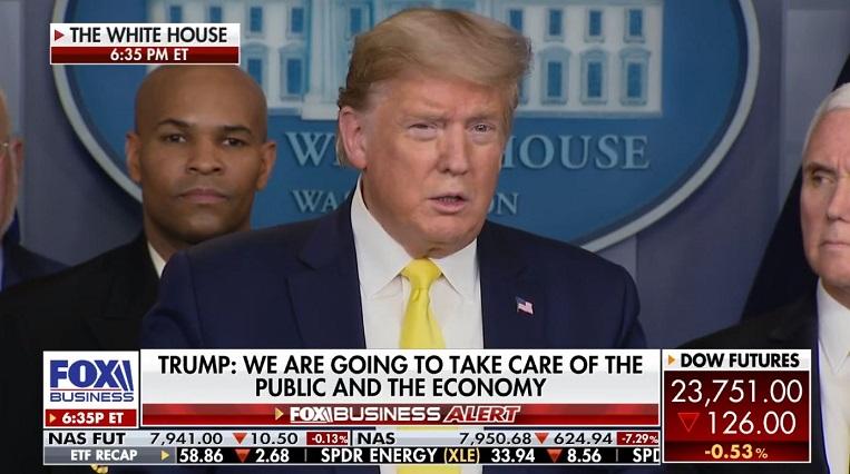 1 X FINAL ----Cover President Trump to announce economic aid tomorrow Mar 10  2020