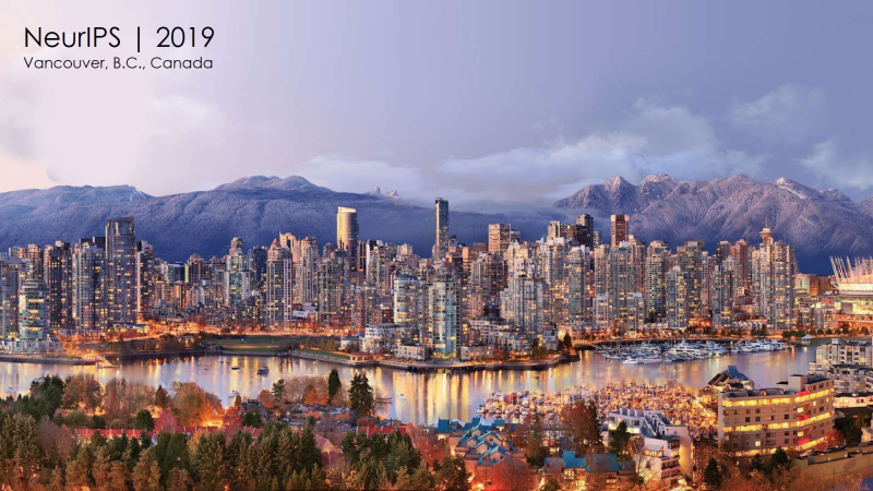 1 x cover apple machine learning at NeurIPS 2019 in Vancouver B.C.