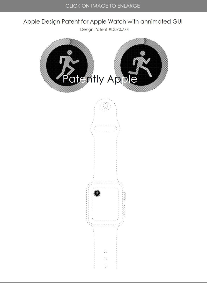 4 design patent d870 774 apple watch with health annimation gui