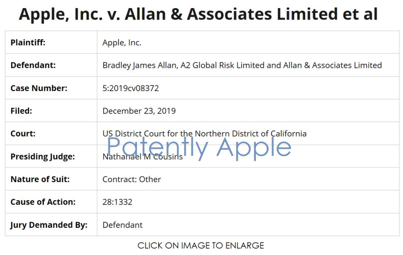 2 x Apple v A2 Global Risk Limited +