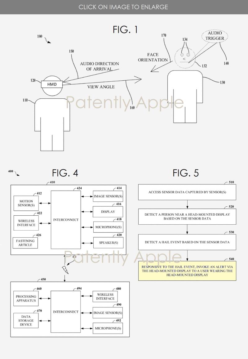 2 Apple HMD Hailing System figgs. 1  4 & 5