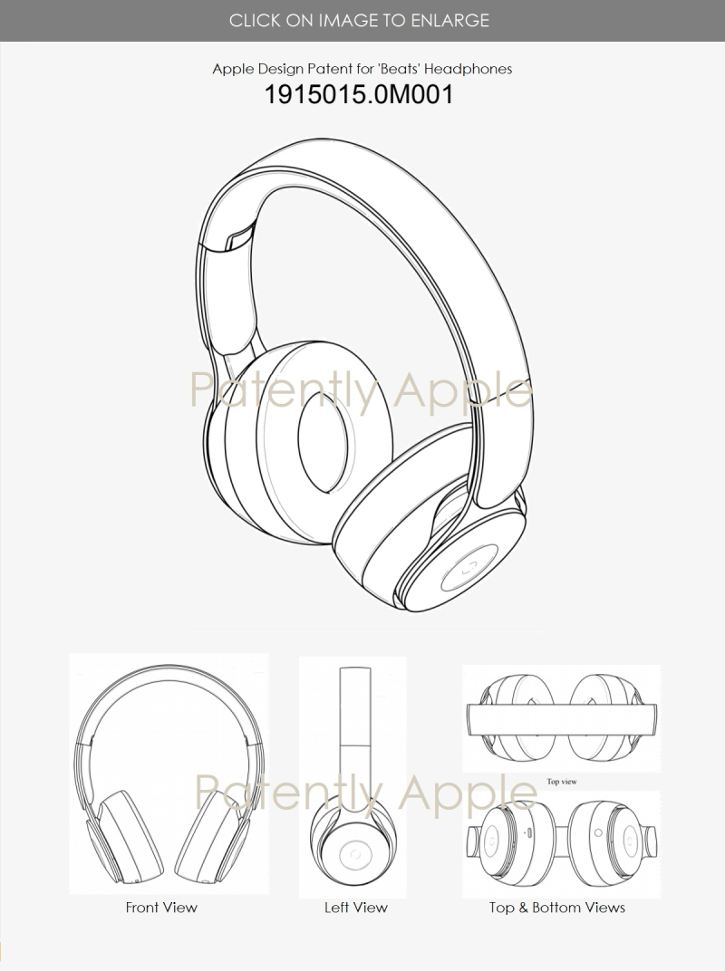 2 Apple design patent granted in Hong Kong for beats over-the-ear headphones .0M0001