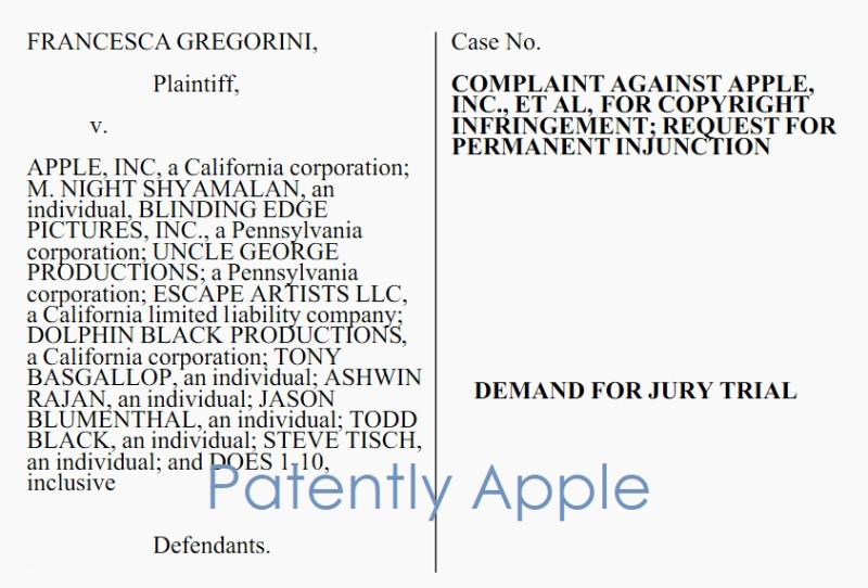 2 Gregorini vs Apple + for Copyright infringement