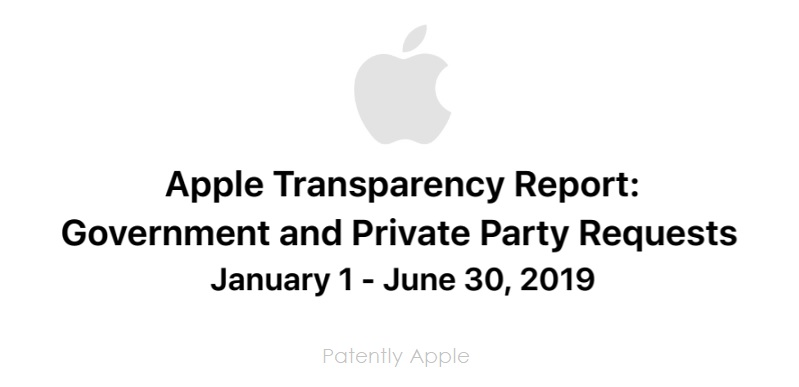 1 Cover Apple Transparency Report