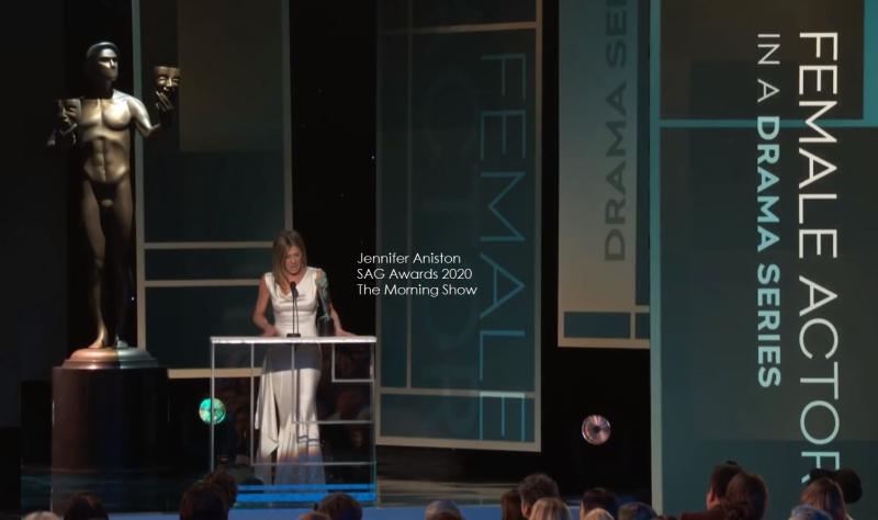 1 Jennifer Aniston SAG award winner for The Morning Show best actress