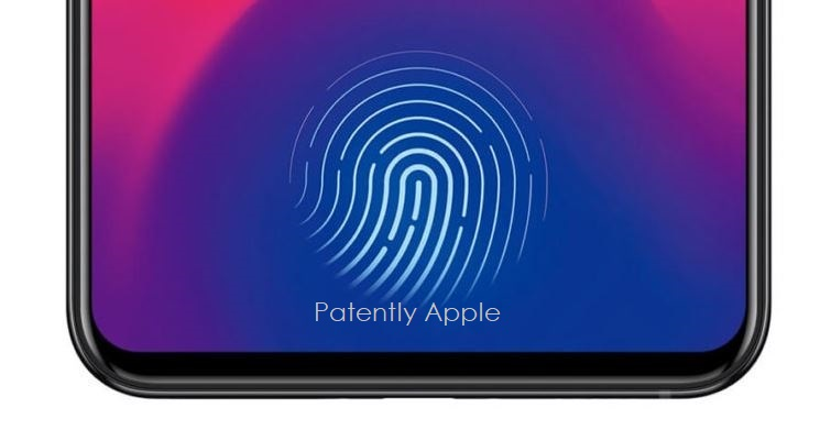 1 touch id under thje display