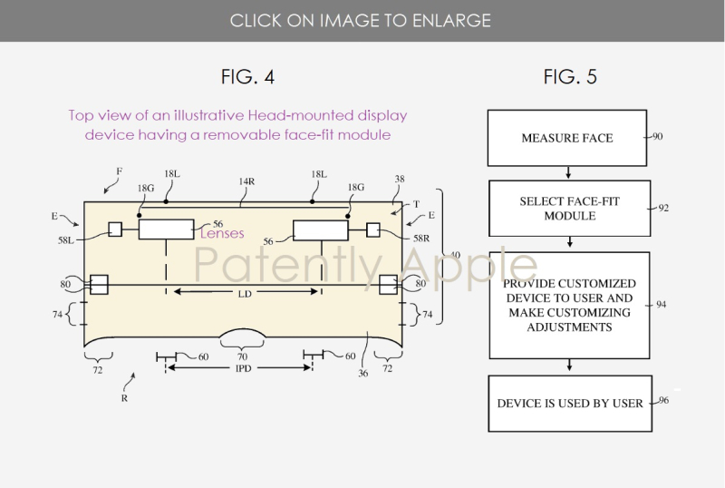 2 Apple patent application for facial mapping of an HMD