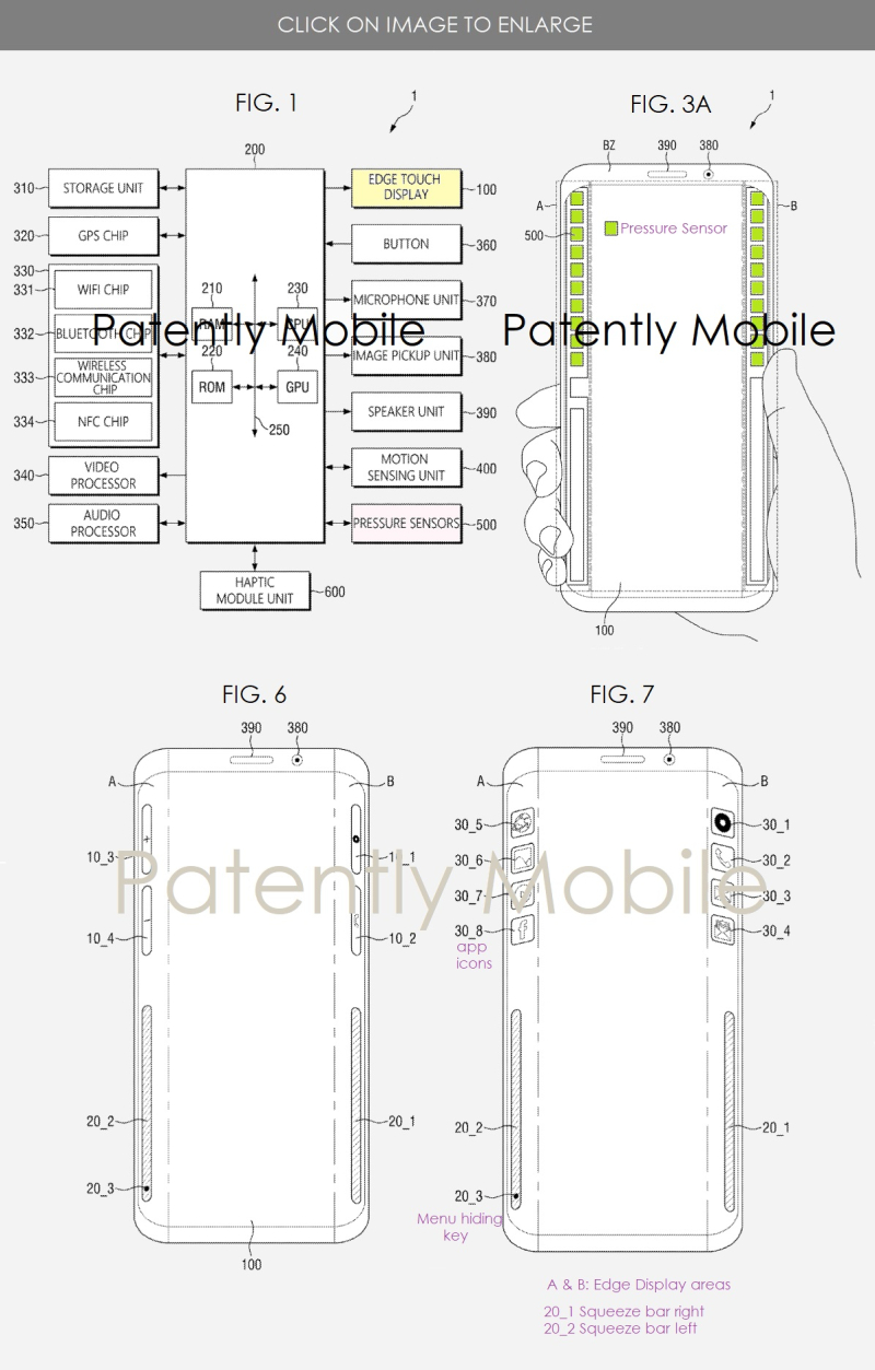 4x Patently Mobile - Samsung Patent for edge touch display