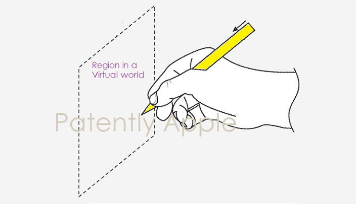 1 Cover - Future Apple Pencil used in  real or mixed reality - virtual worlds