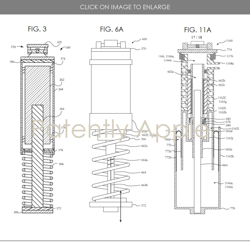 3 Apple Active Suspension System figs 3  6A and 11A Patently Apple report