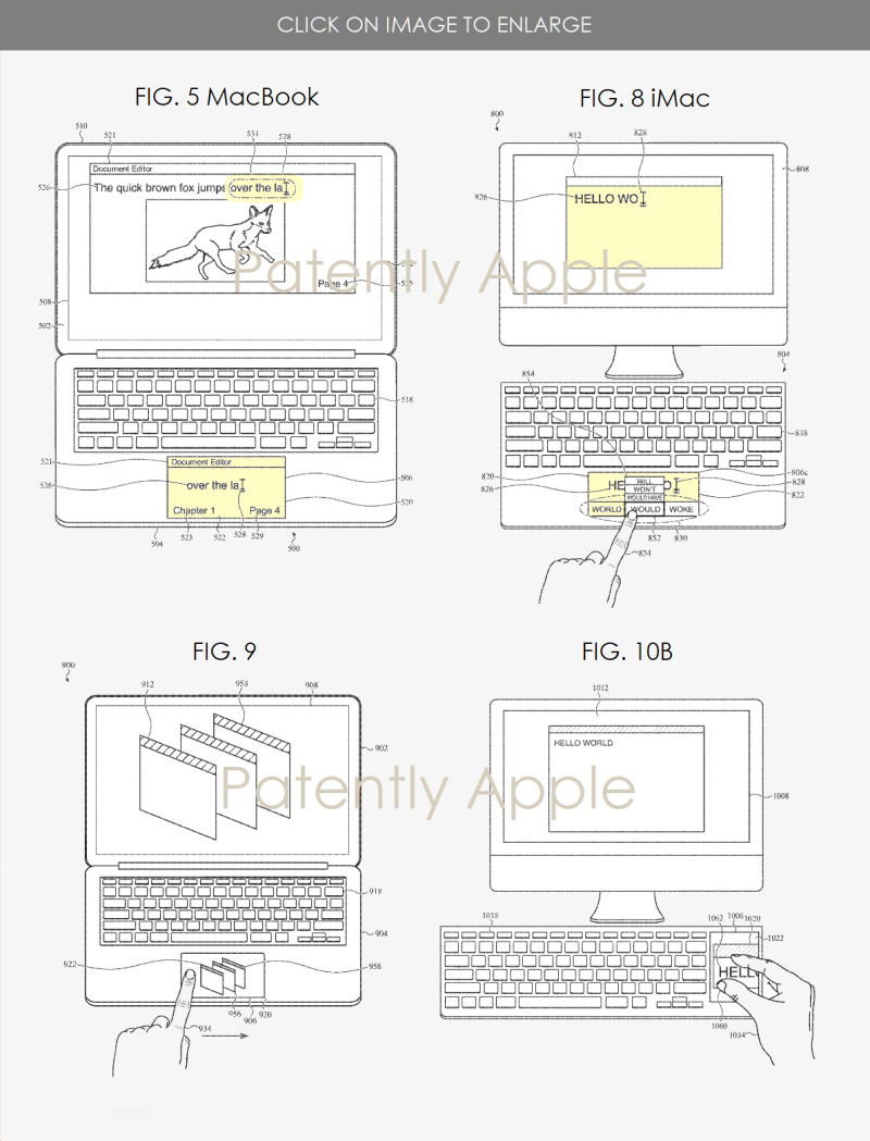 3 trackpad displays