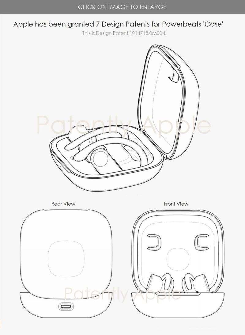 3 powerbeats design patent for earphones case