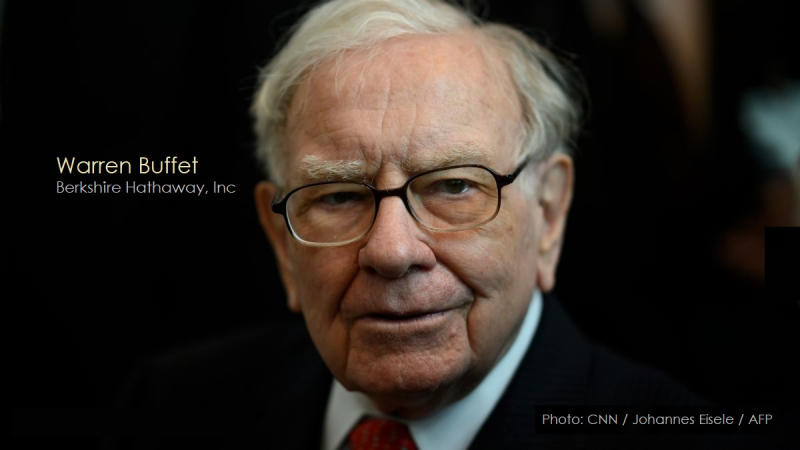 1 x cover Warren Buffet