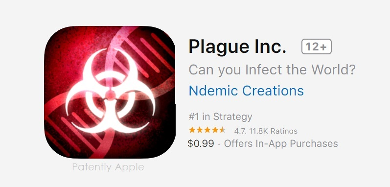 1 x cover Plague Inc game removed in china  - Copy