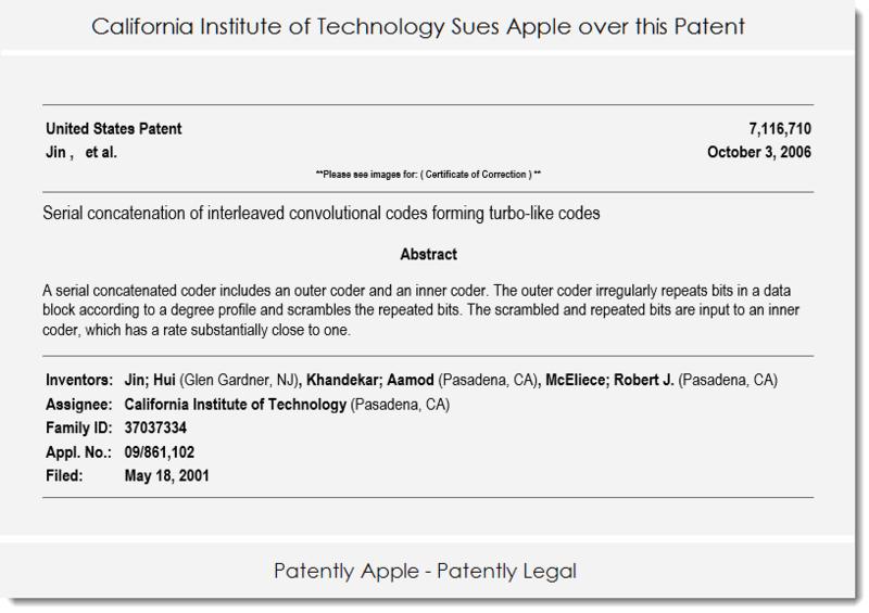 2 california Institute of Technology patent 7 116  710