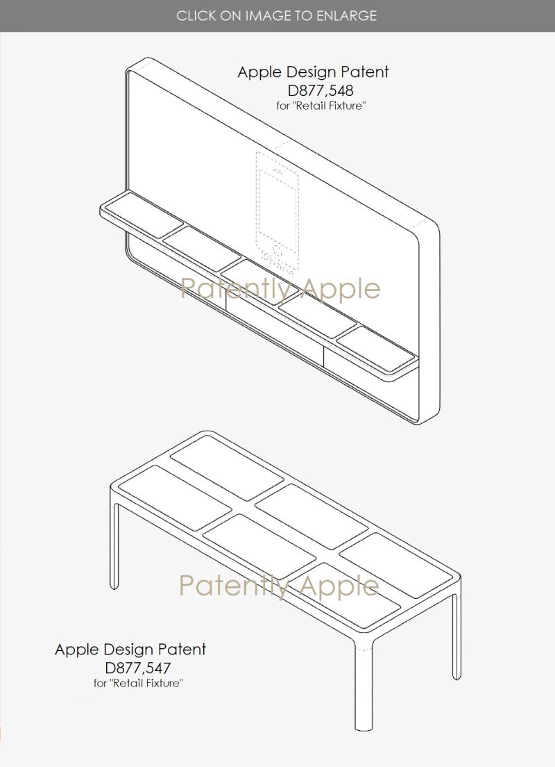 3 Apple design patents for 'Retail Fixture'