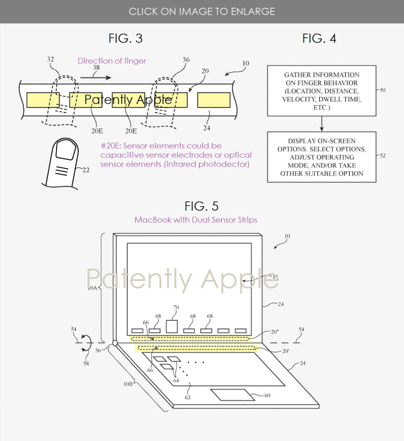 2 MacBook with sensor strips that can read in-air gestures