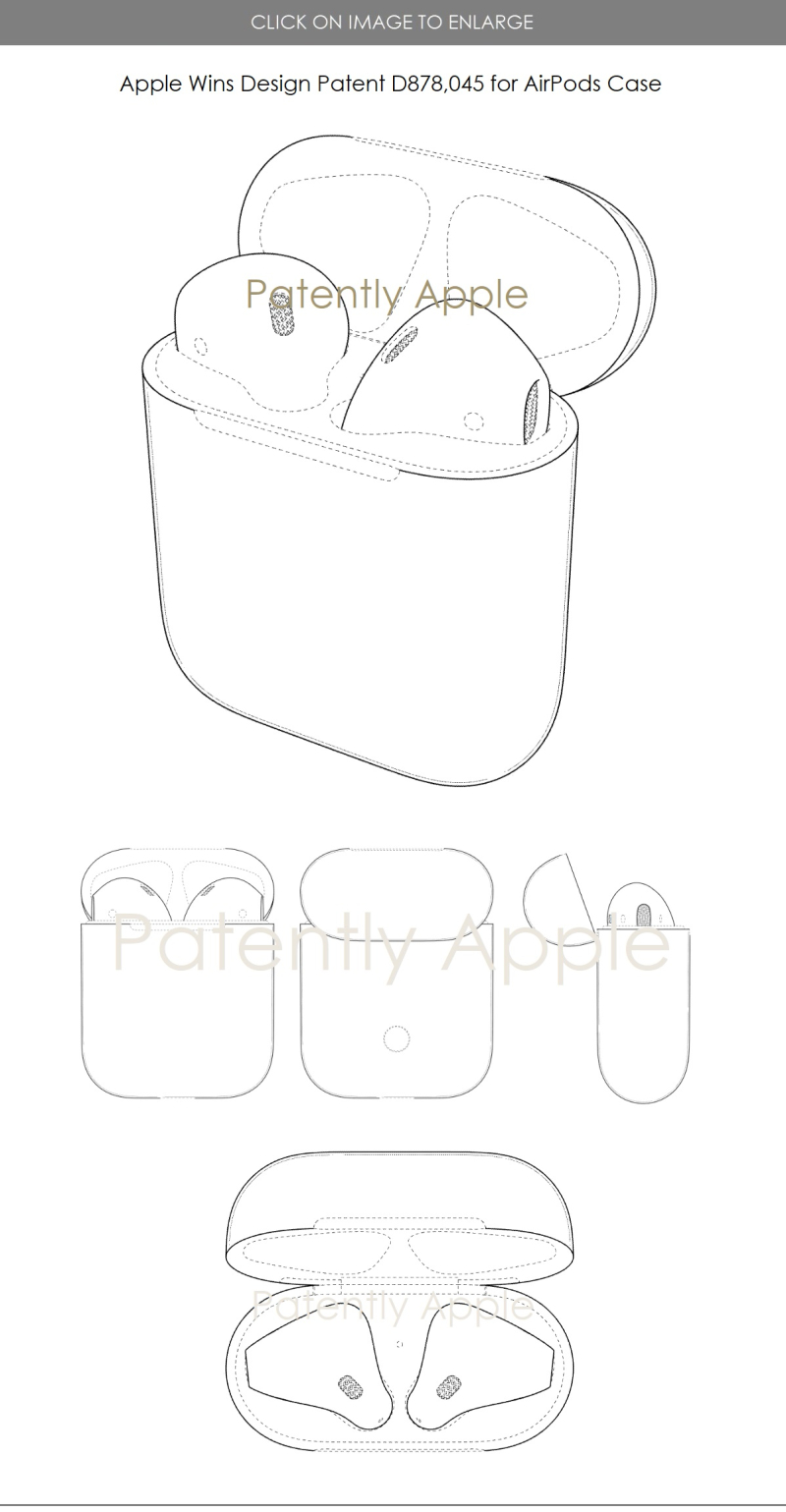 4 AirPods Case design patent win