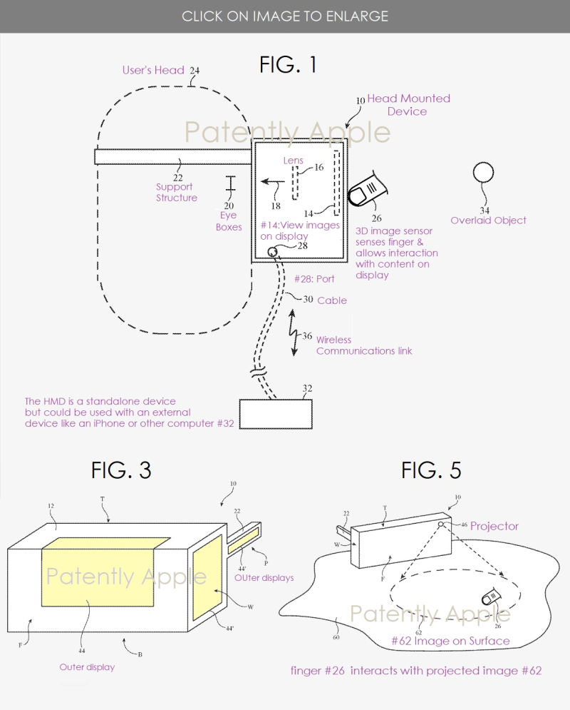 2 x  HMD patent figs 1  3 & 5