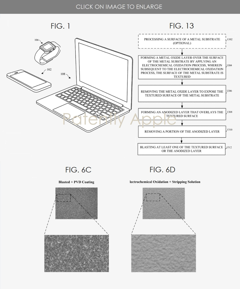 3 Apple patent figures textured titanium for iDevices and MacBooks