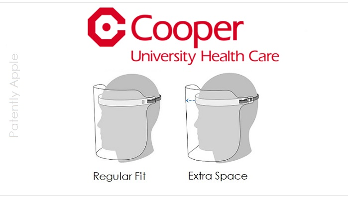 1 x Cover Face Sheild Cooper University Healt Care