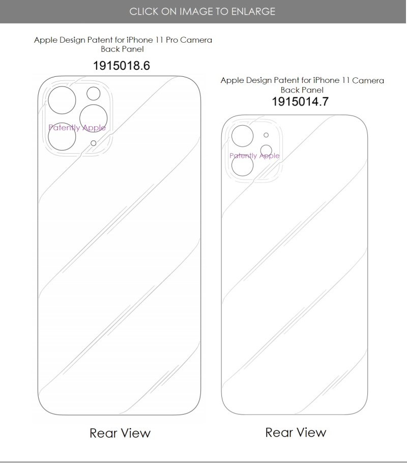 5 XFINAL - more apple design patents covering iPhone camera back panels for entry and Pro models  Patently Apple IP Report Apr 2020