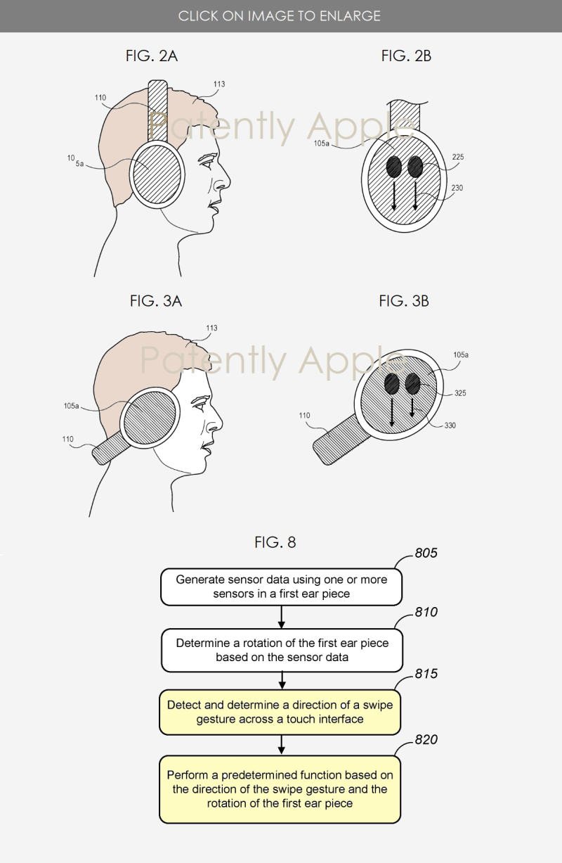 2 Headphone patent with audio controls on the headphone cups
