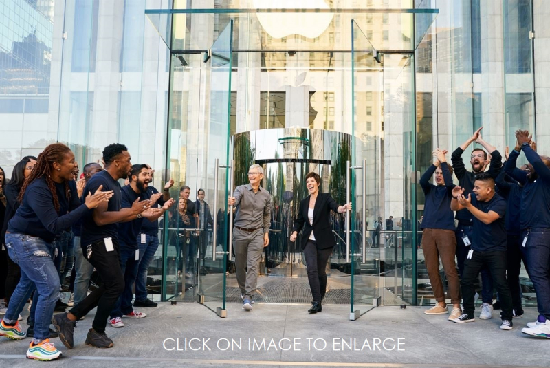 1 X Cover Apple reopens NY Store